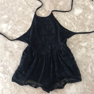 Dresses & Skirts - Open back halter romper size small